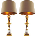 Pair Maison Charles style Gilt Bronze Lamps