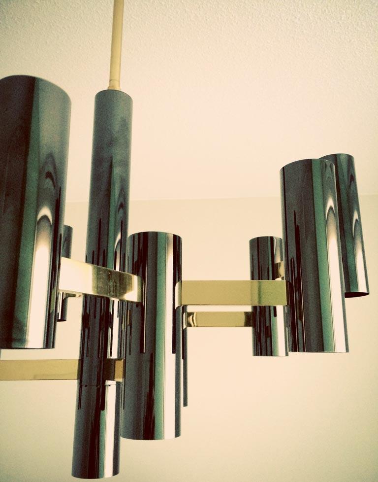 Black amp brass sciolari chandelier special edition galleria62