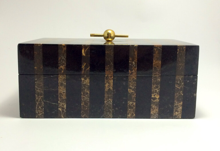 Maitland Smith Marble Tessellated Box