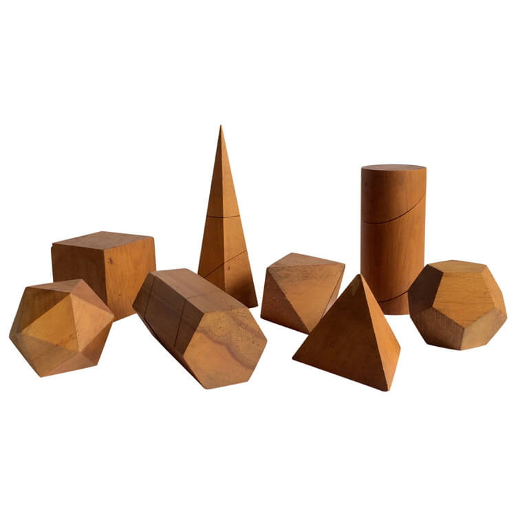 Set Of Vintage Wooden Geometric Shapes Galleria62