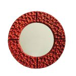 Large Ceramic Mirror By Oswald Tieberghien