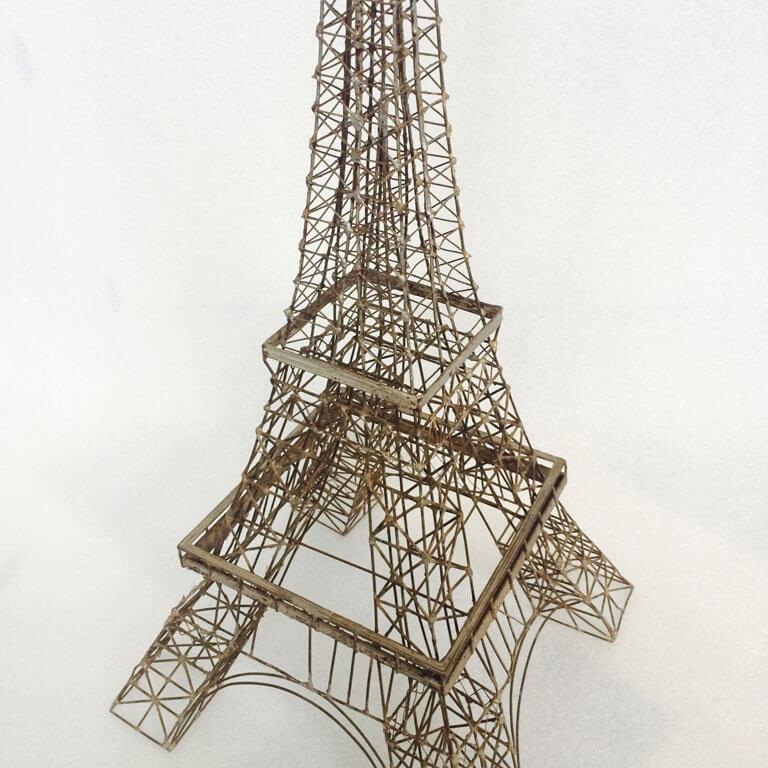 Metal Wire Eiffel Tower Model 1950s