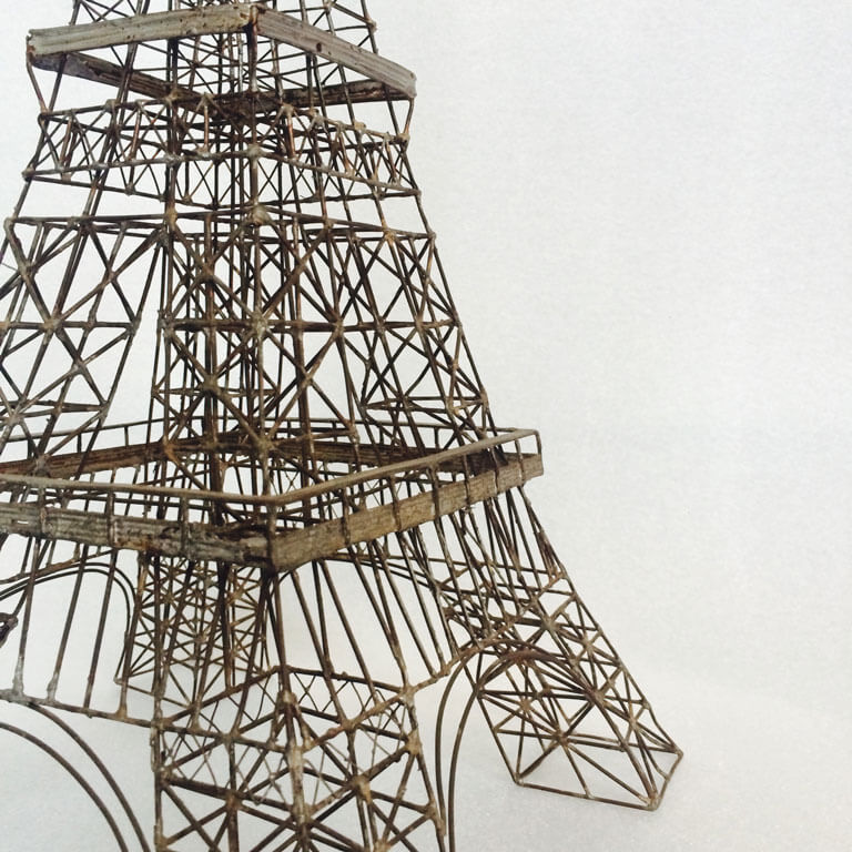 Metal Wire Eiffel Tower Model 1950s