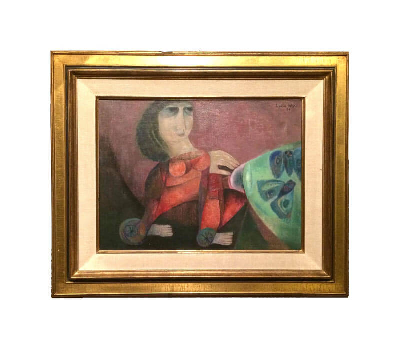 Lydia Wils Oil Painting on Canvas 1971