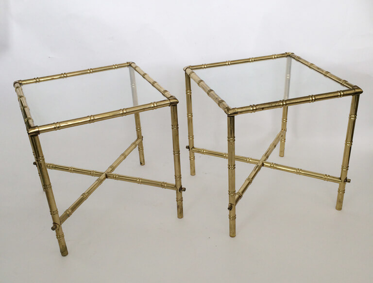 Br Faux Bamboo Side Tables