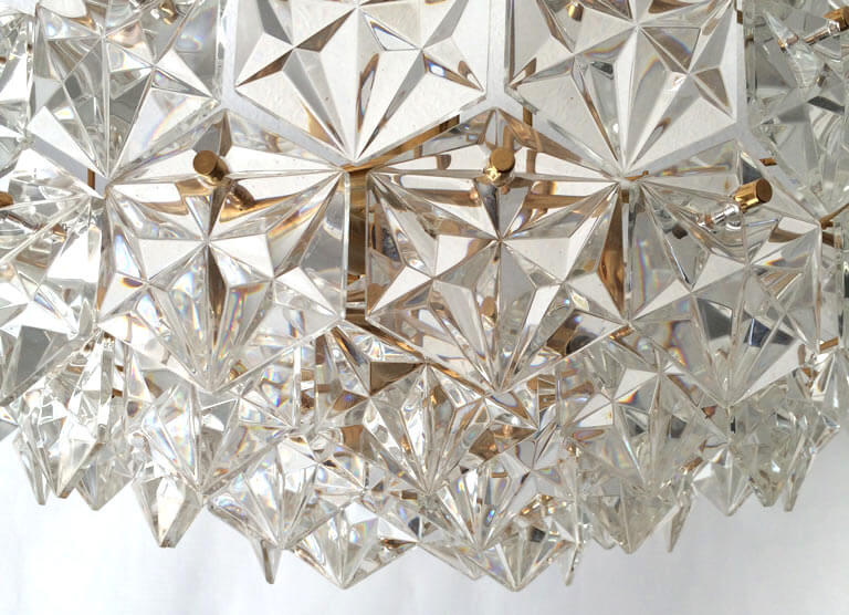 Kinkeldey Large Five-Tier Crystal Glass Chandelier