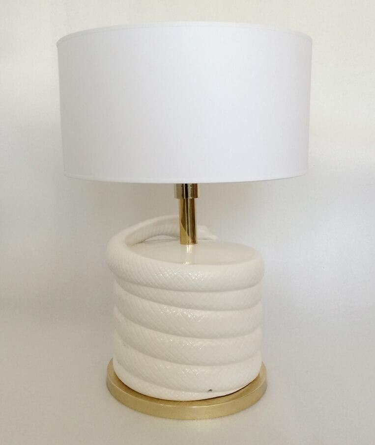 large ceramic cobra table lamp galleria62. Black Bedroom Furniture Sets. Home Design Ideas
