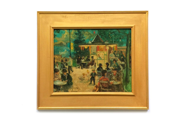 Impressionist Oil Painting of a French Bistro