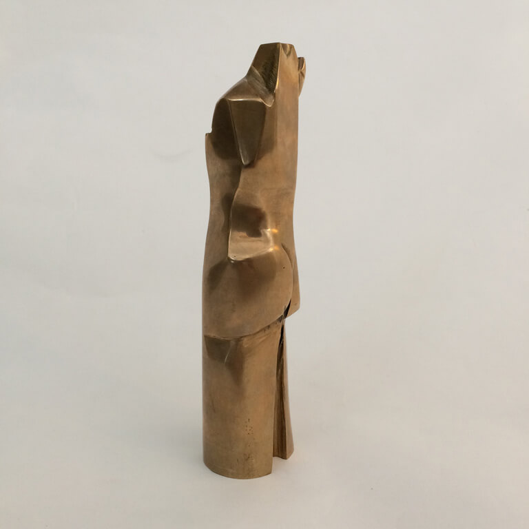 Abstract Brass Sculpture by Frans van den Brande
