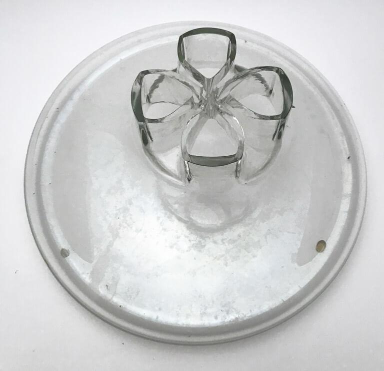 Barbini Italian Murano Glass Quatto Fori Vase