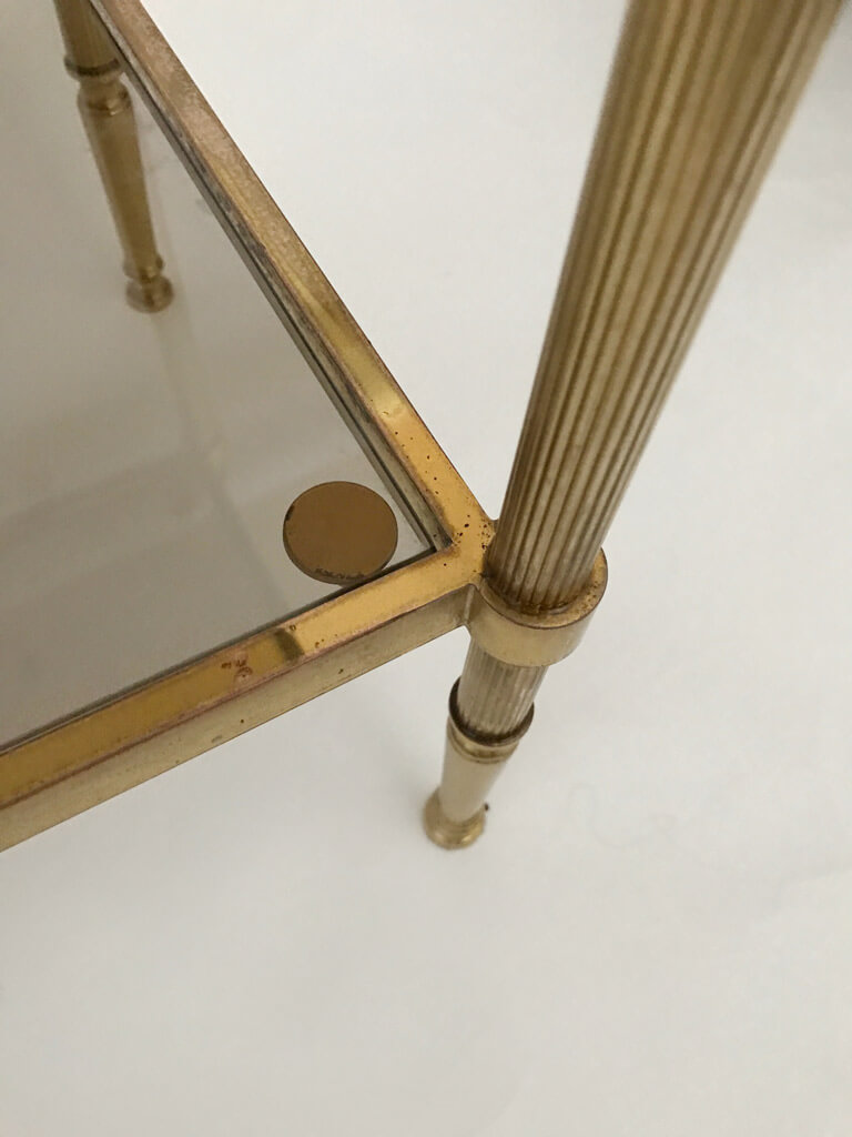Maison Jansen Two-Tier End Tables in Brass