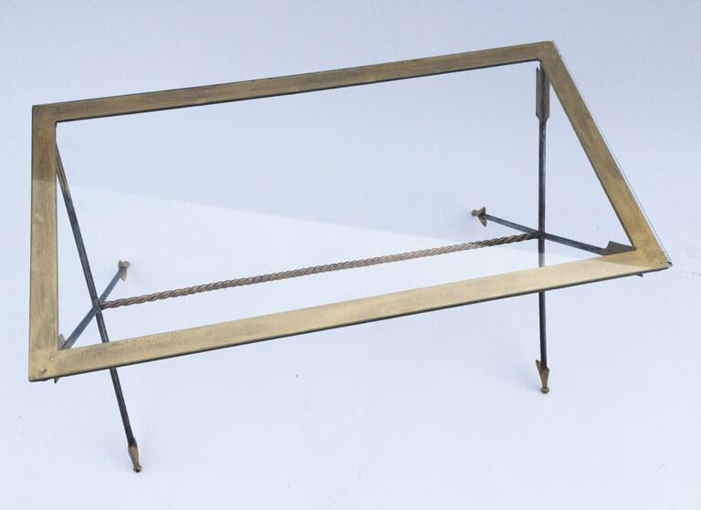 Neoclassic Iron Arrow Coffee Table