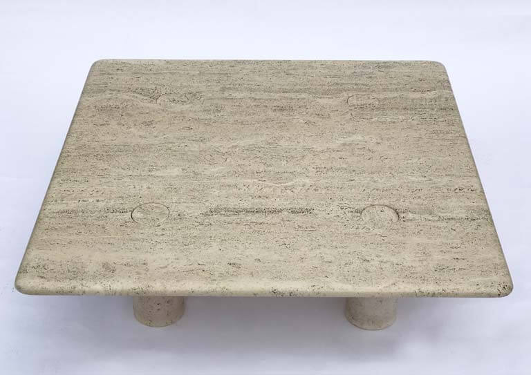 Angelo Mangiarotti Travertine Coffee Table Galleria62