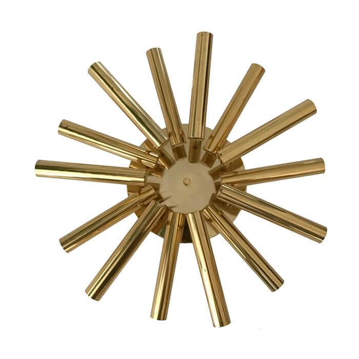 Sciolari Brass Sunburst Ceiling Light