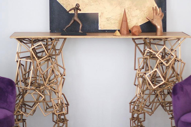 Spectacular Geometric Console Table