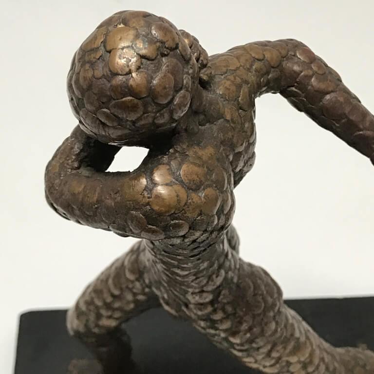 Bronze Sculpture of Running Man