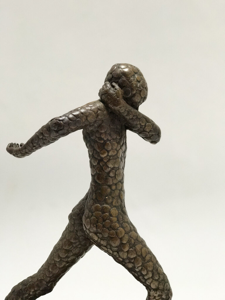 Bronze Sculpture of Running Man