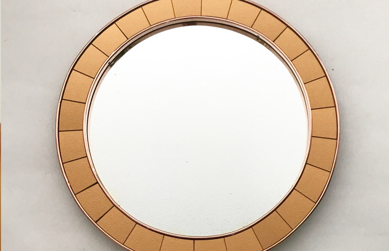 Cristal Art Large Circular Mirror
