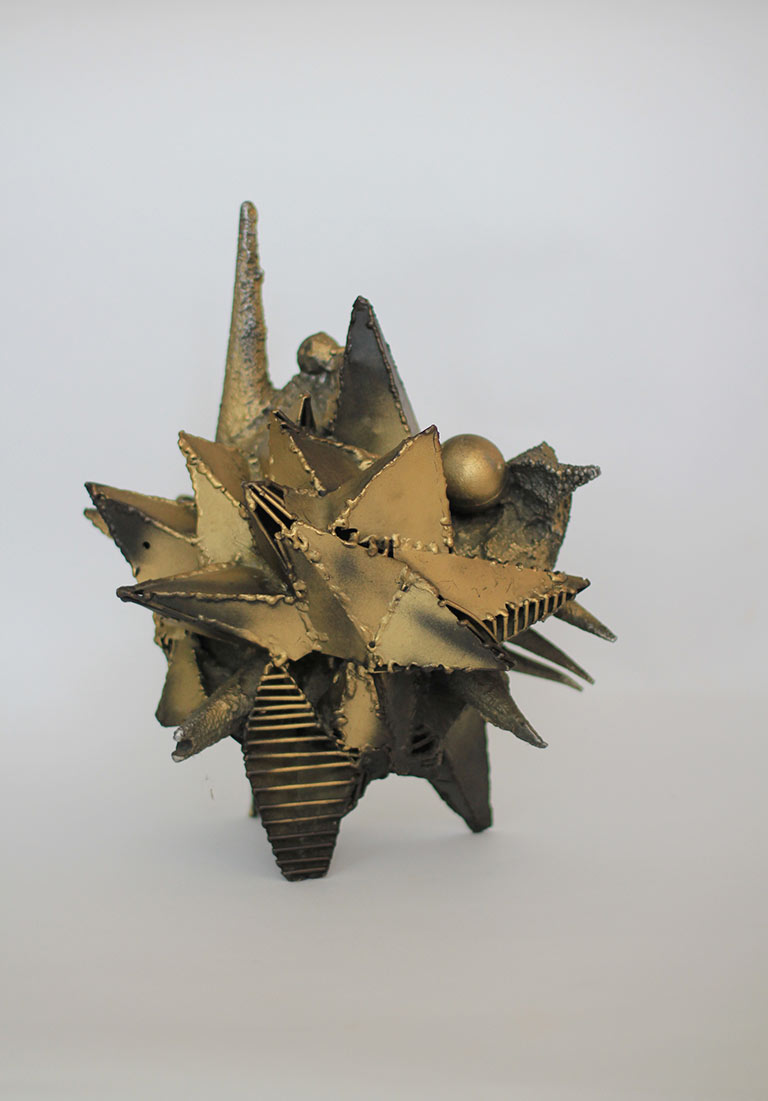 Willy Ceysens Aluminum Brutalist Sculpture