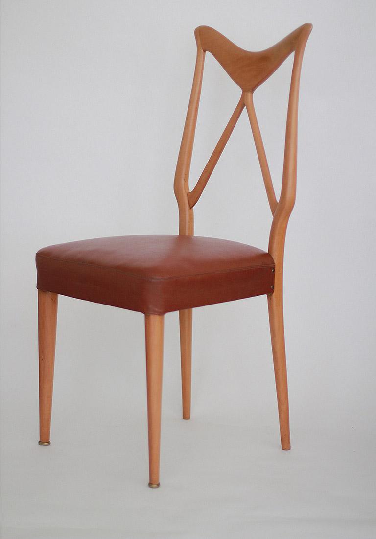 Osvaldo Borsani Italian Dining Chairs