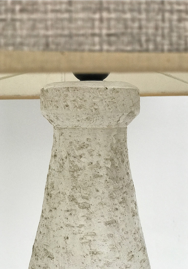 Brutalist Ceramic Table Lamp