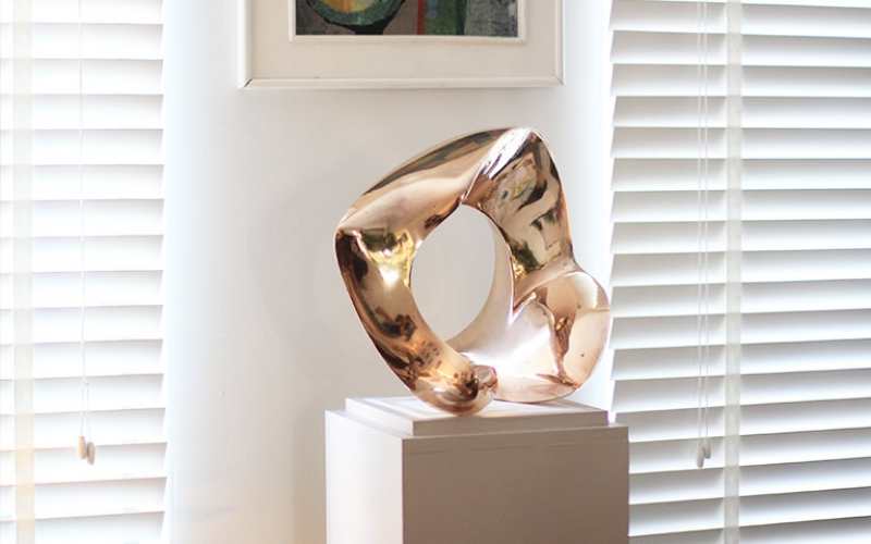 Abstract Bronze Organic Sculpture 1977