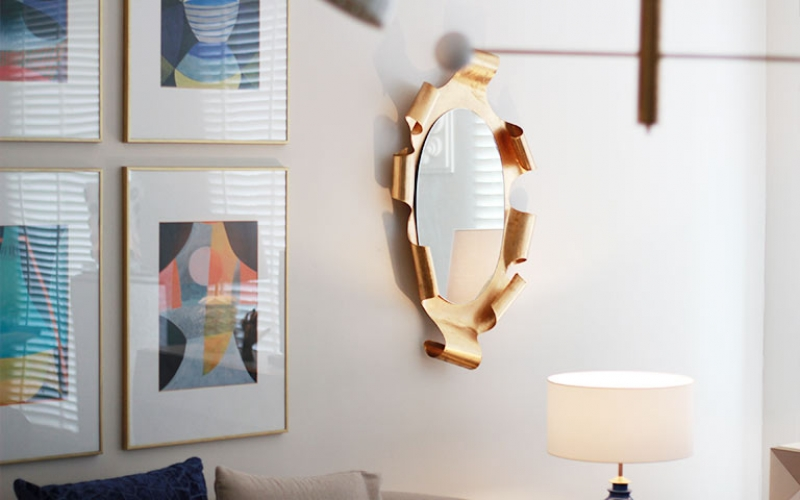 Curling Gilt Wall Mirror