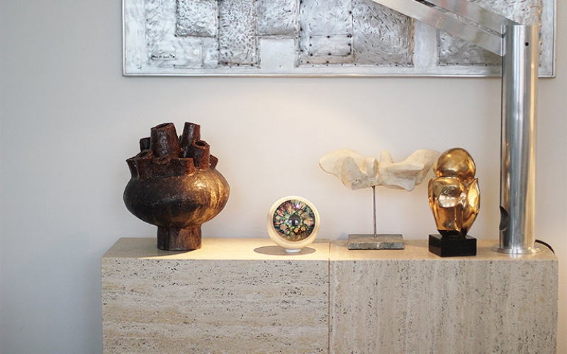 Mid Century Multi Spout Stoneware Sculpture